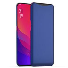 Handyhülle Hülle Kunststoff Schutzhülle Tasche Matt M02 für Oppo Find X Blau