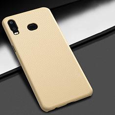 Handyhülle Hülle Kunststoff Schutzhülle Tasche Matt M02 für Samsung Galaxy A6s Gold