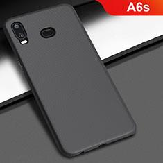 Handyhülle Hülle Kunststoff Schutzhülle Tasche Matt M02 für Samsung Galaxy A6s Schwarz