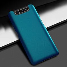 Handyhülle Hülle Kunststoff Schutzhülle Tasche Matt M02 für Samsung Galaxy A80 Blau