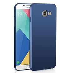Handyhülle Hülle Kunststoff Schutzhülle Tasche Matt M02 für Samsung Galaxy A9 Pro (2016) SM-A9100 Blau