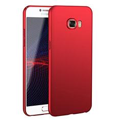 Handyhülle Hülle Kunststoff Schutzhülle Tasche Matt M02 für Samsung Galaxy C7 SM-C7000 Rot