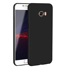 Handyhülle Hülle Kunststoff Schutzhülle Tasche Matt M02 für Samsung Galaxy C7 SM-C7000 Schwarz