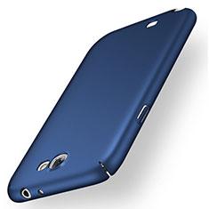 Handyhülle Hülle Kunststoff Schutzhülle Tasche Matt M02 für Samsung Galaxy Note 2 N7100 N7105 Blau