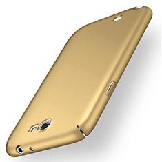 Handyhülle Hülle Kunststoff Schutzhülle Tasche Matt M02 für Samsung Galaxy Note 2 N7100 N7105 Gold
