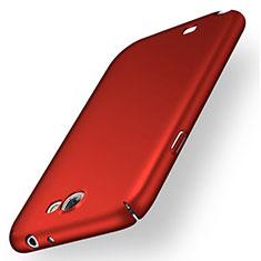 Handyhülle Hülle Kunststoff Schutzhülle Tasche Matt M02 für Samsung Galaxy Note 2 N7100 N7105 Rot