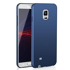 Handyhülle Hülle Kunststoff Schutzhülle Tasche Matt M02 für Samsung Galaxy Note 4 Duos N9100 Dual SIM Blau