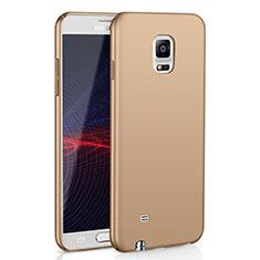 Handyhülle Hülle Kunststoff Schutzhülle Tasche Matt M02 für Samsung Galaxy Note 4 Duos N9100 Dual SIM Gold