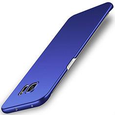 Handyhülle Hülle Kunststoff Schutzhülle Tasche Matt M02 für Samsung Galaxy S6 Edge SM-G925 Blau