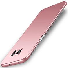 Handyhülle Hülle Kunststoff Schutzhülle Tasche Matt M02 für Samsung Galaxy S6 Edge SM-G925 Rosegold