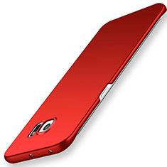 Handyhülle Hülle Kunststoff Schutzhülle Tasche Matt M02 für Samsung Galaxy S6 Edge SM-G925 Rot