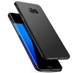 Handyhülle Hülle Kunststoff Schutzhülle Tasche Matt M02 für Samsung Galaxy S7 Edge G935F Schwarz