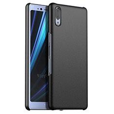 Handyhülle Hülle Kunststoff Schutzhülle Tasche Matt M02 für Sony Xperia L3 Schwarz