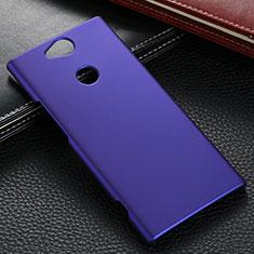 Handyhülle Hülle Kunststoff Schutzhülle Tasche Matt M02 für Sony Xperia XA2 Plus Blau