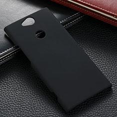 Handyhülle Hülle Kunststoff Schutzhülle Tasche Matt M02 für Sony Xperia XA2 Plus Schwarz