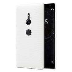 Handyhülle Hülle Kunststoff Schutzhülle Tasche Matt M02 für Sony Xperia XZ2 Weiß