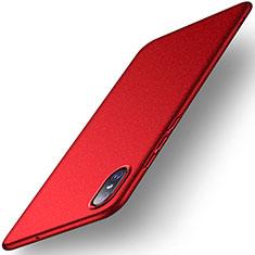 Handyhülle Hülle Kunststoff Schutzhülle Tasche Matt M02 für Xiaomi Mi 8 Screen Fingerprint Edition Rot