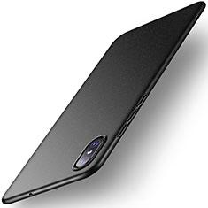 Handyhülle Hülle Kunststoff Schutzhülle Tasche Matt M02 für Xiaomi Mi 8 Screen Fingerprint Edition Schwarz