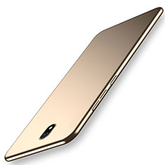 Handyhülle Hülle Kunststoff Schutzhülle Tasche Matt M02 für Xiaomi Redmi 8A Gold