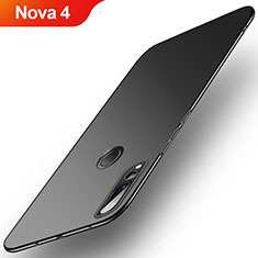 Handyhülle Hülle Kunststoff Schutzhülle Tasche Matt M03 für Huawei Nova 4 Schwarz