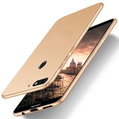 Handyhülle Hülle Kunststoff Schutzhülle Tasche Matt M03 für Huawei Y7 (2018) Gold
