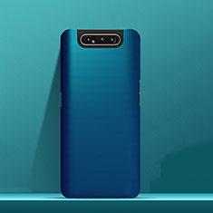 Handyhülle Hülle Kunststoff Schutzhülle Tasche Matt M03 für Samsung Galaxy A80 Blau