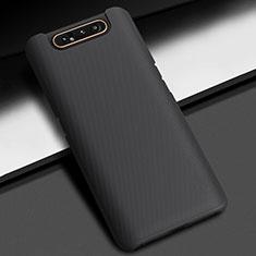Handyhülle Hülle Kunststoff Schutzhülle Tasche Matt M03 für Samsung Galaxy A80 Schwarz