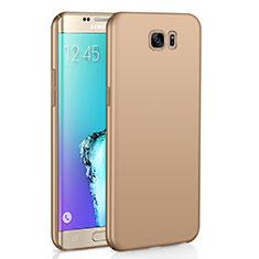 Handyhülle Hülle Kunststoff Schutzhülle Tasche Matt M03 für Samsung Galaxy S6 Edge SM-G925 Gold