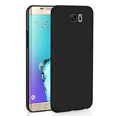 Handyhülle Hülle Kunststoff Schutzhülle Tasche Matt M03 für Samsung Galaxy S6 Edge SM-G925 Schwarz