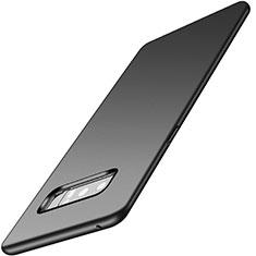 Handyhülle Hülle Kunststoff Schutzhülle Tasche Matt M04 für Samsung Galaxy Note 8 Schwarz