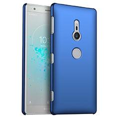 Handyhülle Hülle Kunststoff Schutzhülle Tasche Matt M04 für Sony Xperia XZ2 Blau