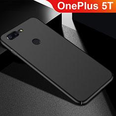 Handyhülle Hülle Kunststoff Schutzhülle Tasche Matt M05 für OnePlus 5T A5010 Schwarz