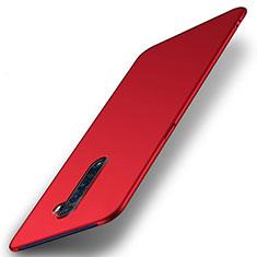 Handyhülle Hülle Kunststoff Schutzhülle Tasche Matt M05 für Oppo Reno2 Rot