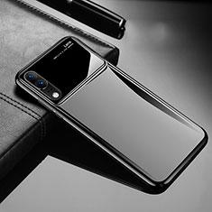 Handyhülle Hülle Kunststoff Schutzhülle Tasche Matt M06 für Huawei P20 Schwarz