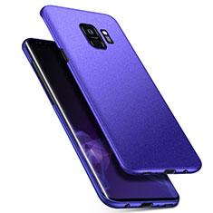 Handyhülle Hülle Kunststoff Schutzhülle Tasche Matt M08 für Samsung Galaxy S9 Blau