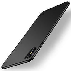 Handyhülle Hülle Kunststoff Schutzhülle Tasche Matt M15 für Apple iPhone Xs Schwarz