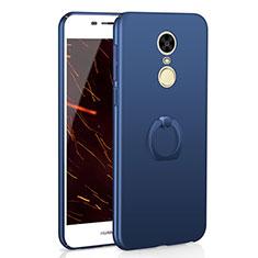 Handyhülle Hülle Kunststoff Schutzhülle Tasche Matt mit Fingerring Ständer A01 für Huawei Enjoy 6 Blau