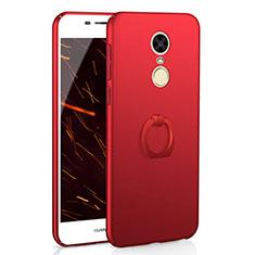 Handyhülle Hülle Kunststoff Schutzhülle Tasche Matt mit Fingerring Ständer A01 für Huawei Enjoy 6 Rot