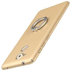 Handyhülle Hülle Kunststoff Schutzhülle Tasche Matt mit Fingerring Ständer A01 für Huawei Enjoy 6S Gold