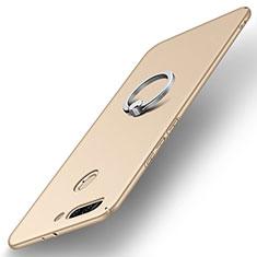 Handyhülle Hülle Kunststoff Schutzhülle Tasche Matt mit Fingerring Ständer A01 für Huawei Honor 8 Pro Gold