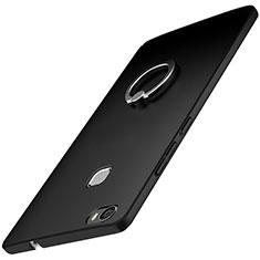 Handyhülle Hülle Kunststoff Schutzhülle Tasche Matt mit Fingerring Ständer A01 für Huawei Honor Note 8 Schwarz