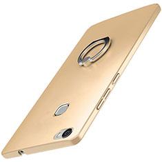 Handyhülle Hülle Kunststoff Schutzhülle Tasche Matt mit Fingerring Ständer A01 für Huawei Honor V8 Max Gold