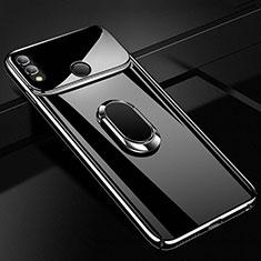 Handyhülle Hülle Kunststoff Schutzhülle Tasche Matt mit Magnetisch Fingerring Ständer A01 für Huawei Honor 10 Lite Schwarz