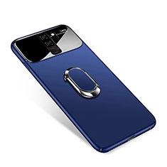 Handyhülle Hülle Kunststoff Schutzhülle Tasche Matt mit Magnetisch Fingerring Ständer A01 für Samsung Galaxy S9 Plus Blau