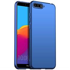 Handyhülle Hülle Kunststoff Schutzhülle Tasche Matt P01 für Huawei Y6 (2018) Blau