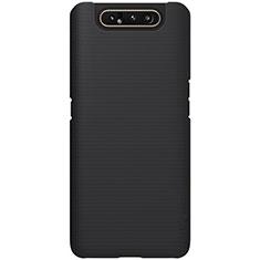 Handyhülle Hülle Kunststoff Schutzhülle Tasche Matt P01 für Samsung Galaxy A80 Schwarz