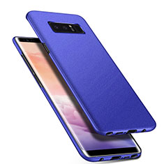 Handyhülle Hülle Kunststoff Schutzhülle Tasche Matt P01 für Samsung Galaxy Note 8 Blau