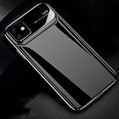 Handyhülle Hülle Kunststoff Schutzhülle Tasche Matt P02 für Apple iPhone 11 Schwarz