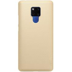 Handyhülle Hülle Kunststoff Schutzhülle Tasche Matt P02 für Huawei Mate 20 Gold