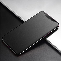 Handyhülle Hülle Kunststoff Schutzhülle Tasche Matt P02 für Oppo Find X Schwarz